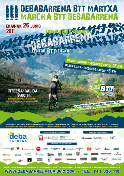 Cartel III Marcha BTT Debabarrena