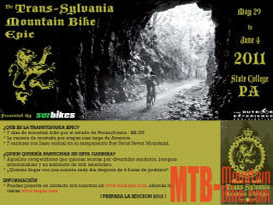 Trans-Sylvania Mountain Bike Epic, del 29 de mayo al 4 de junio en Pennsylvania